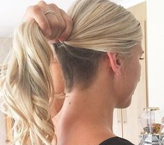 Long Blond Ponytail, Undercut