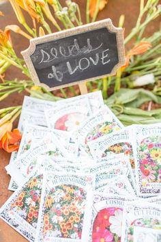 Wedding Favor of Flower Seeds