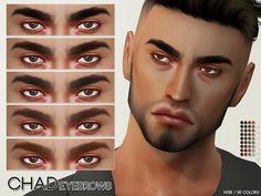 Pralinesims' Chad Eyebrows N136 Sims 4 Body Hair, Sims 4 Cc Skin, Sims Cc, Sims 4 Game Mods, Sims 4 Mods, Guys Eyebrows, Bushy Eyebrows, Sims 4 Black Hair, Sims 4 Gameplay