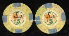 #LasVegasCasinoChip of the Day is an old $5 Sands 11th issue you can get here http://www.all-chips.com/ChipDetail.php?ChipID=18408 This is a great old example of this chip you can own cheap! #CasinoChip #Sands