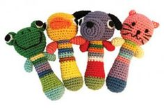 Crochet animal rattle Mom, can you make these for the Schwab babies?