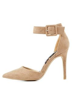 Ankle Strap Pointed Toe Pumps: Charlotte Russe