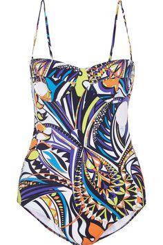 EMILIO PUCCI Printed Swimsuit. #emiliopucci #cloth #swimsuit