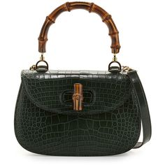 9176edef7d6 Gucci Bamboo Classic Small Crocodile Bag ( 24