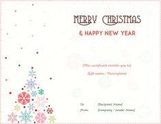 Printable Christmas Gift Certificates Templates Free 44 Free Printable Gift Certificate Templates For Word & Pdf .