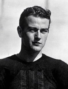 John Wayne  before fame. here as a USC football player