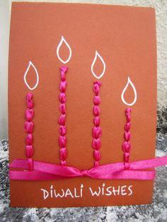Diwali Ideas - Cards, Crafts, Decor, DIY and Party Ideas - Archana Tewari - HotelsPedi Handmade Diwali Greeting Cards, Diwali Cards, Diwali Greetings, Diwali Wishes, Homemade Greeting Cards, Homemade Cards, Happy Diwali, Diwali Diy, Diwali Gifts