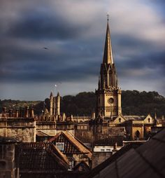 Amazing view over the rooftops of one of England's most beautiful cities, Bath #England #Bath #Tourism #Beautiful #Roman #Tourist #UK #UnitedKingdom #SouthWest