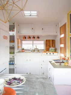 Vintage Camper Kitchen - See More Vintage Trailers at HGTV's Design Happens Blog