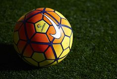 The official match ball is seen during the La Liga match between Levante UD and FC Barcelona at Ciutat de Valencia on February 07, 2016 in Valencia