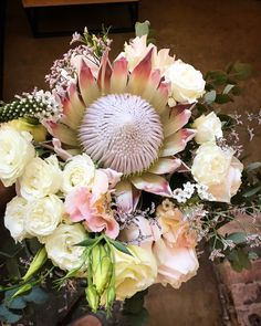 Bliss Floral Creations is a Johannesburg based boutique florist specialising in personalised wedding and event flowers King Protea, Personalized Wedding, Bliss, Floral Design, Floral Wreath, Wreaths, Rose, Flowers, Bloemen