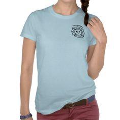 A Firefighters Wife Maltese Logo Tee Shirt
