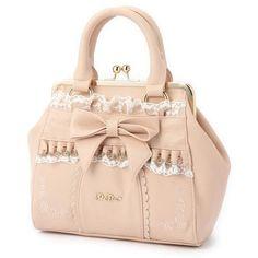 フリルガマ口ポシェット ❤ liked on Polyvore featuring bags, handbags, accessories - bags, lolita bag, purses, pink hand bags, purse bag, pink purse, pink handbags and man bag
