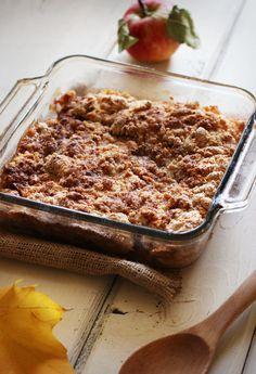 Easy apple crisp it s in the oven now can t wait to throw some ice