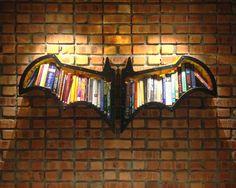 Creative and cool bookshelf ideas, including this batman shelf!