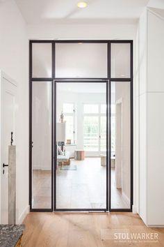 Steel – Glass – Doors – Steel loft doors - All About Decoration Attic Doors, Room Doors, Minimalist Apartment, Minimalist Interior, Loft Design, Design Case, Scandinavian Loft, Loft Door, Above Couch