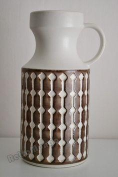 West German Pottery vase by Jasba  1640  28 by RetroMungo on Etsy, €45.00