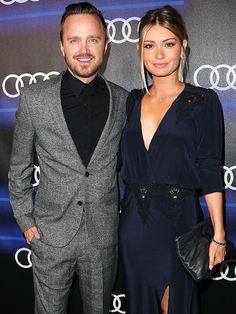 He sure looks like a winner! Emmy nominee Aaron Paul and his wife Lauren make one cute couple Thursday night Aug 21, 2014 at the Audi Celebrates Emmys Week party at Cecconi's restaurant in L.A. Check out other Celebs Spotted at Cecconis! http://celebhotspots.com/hotspot/?hotspotid=24787&next=1