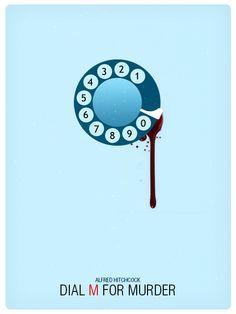 Dial M for Murder (1954) ~ Minimal Movie Poster by Pramod Mahanand #amusementphile