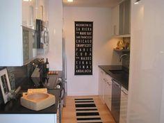 Black counter tops - Small kitchen design