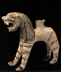 Hittite, rhyton- lion, Kültepe- Kaniş, 1945-1835 BC