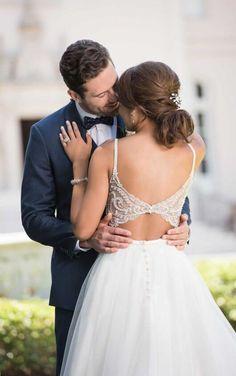 6636 Backless Ballgown Wedding Dress by Stella York Luxury Wedding Dress, Designer Wedding Dresses, Bridal Gowns, Wedding Gowns, Backless Wedding, Wedding Dress Pictures, Gown Photos, Mod Wedding, Trendy Wedding