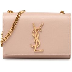 Saint Laurent Monogramme Small Crossbody Bag, Pale Blush found on Polyvore