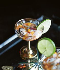 Australian Gourmet Traveller recipe for ceviche with tiger's blood by Elvis Abrahanowicz and Ben Milgate.