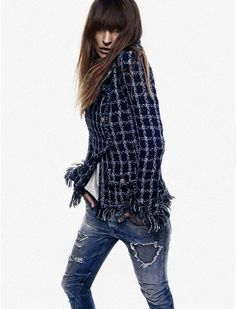 #CarolinedeMaigret  rips it up, plaids it out and amps it up for #ElleSpain