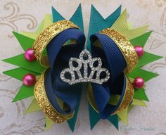 Anna Coronation Gown Hair Bow, Frozen Birthday Party, Costume