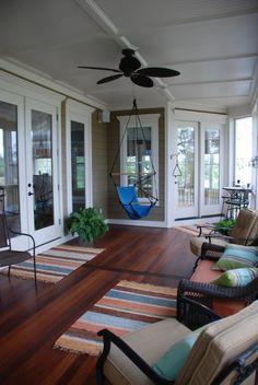 Super cool enclosed porch #porch