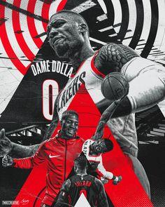 Damian Lillard Design on Behance design Basketball Posters, Basketball Design, Basketball Art, Football Design, Basketball Cookies, Basketball Tattoos, Basketball Videos, Damian Lillard, Mexico 86
