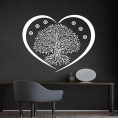 Tree Wall Decals Namaste Vinyl Sticker Decal Yoga Studio Gym Decor Home Heart Art Window Interior Design Murals Ah136 Yoga Studio Decor, Yoga Studios, Gym Decor, Heart Art, Tree Wall, Namaste, Murals, Wall Decals, Window