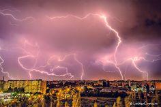 Cerul a fost din nou luminat de fulgere! Bucuresti 13.05.13 My Dream, Clouds, Deep, Dreams, Night, Outdoor, Outdoors, Outdoor Games, Outdoor Living