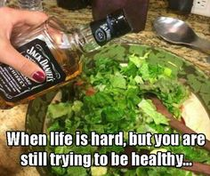 When life is hard, but you're still trying to be healthy... #DoWhatYouGotToDo #LOL