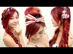 ▶ 5 Hairstyles for Spring & Summer l Quick Cute and Easy Hair Tutorials for Medium Long Hair - YouTube