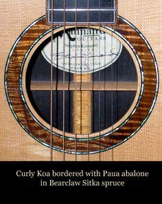 The Official Web Site of Stephen Kinnaird Guitars, Luthier Classical Acoustic Guitar, Sitka Spruce, Cigar Box Guitar, Guitar Body, Guitar Building, Guitar Design, Cool Guitar, Musical Instruments, Mosaics