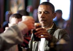 President Obama  had a Guinness at The Dubliner in DC on Saint Patrick's Day