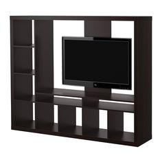 EXPEDIT MobileTV - marrone-nero  - IKEA (poi va chiuso con delle ante o cassetti, se no si impolvera tutto)