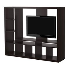 EXPEDIT TV storage unit - black-brown  - IKEA