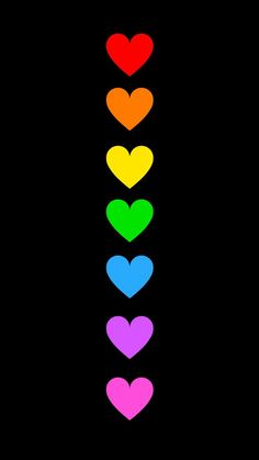 Helle Farben auf schwarzem Hintergrund You can start by using the software to add some g Rainbow Wallpaper, Heart Wallpaper, Love Wallpaper, Cellphone Wallpaper, Colorful Wallpaper, Iphone Wallpaper, Rainbow Art, Rainbow Colors, Black Backgrounds