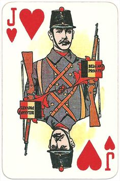 The Allied Armies of the First World War 1917 made in Russia Belgian private soldier Jack of hearts Jack Of Hearts, Dark Power, Queen Of Spades, Football Cards, First World, The One, World War, Armies, Fairy Tales