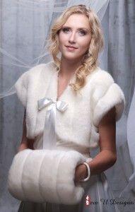 Winter wedding faux fur bolero jacket shrug and by sewudesigns, $97.00