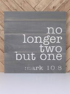 """""""No Longer Two"""" Wall Art 
