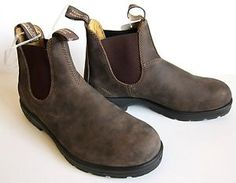 Blundstone Rustic Brown Nubuck 585 Chelsea Lugged Boots SZ 5 US (4 ...