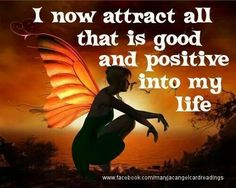 Click the Pin for Awesome Topics on Law Of Attraction I now attract all that is good and positive into my life. #affirmations