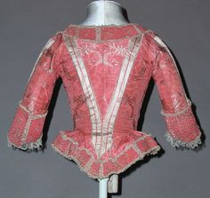1775-85 French silk Bodice