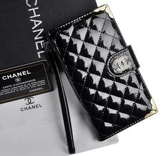 Chanel Samsung Note3 Case and wallet  Black or White!  www.STATEOFCHIC.com