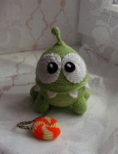 Free pattern for Crochet Cut the Rope (Russian)