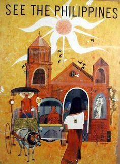 Giclee Print: See The Philippines - San Augustin Church - Manila by Mauro Malang Santos : Filipino Art, Filipino Culture, Philippines Culture, Philippines Travel, Palawan, Manila, Davao, Philippine Art, Travel Hotel